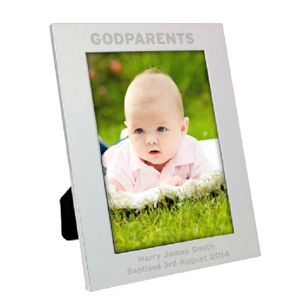 Personalised Silver 5x7 Godparents Frame